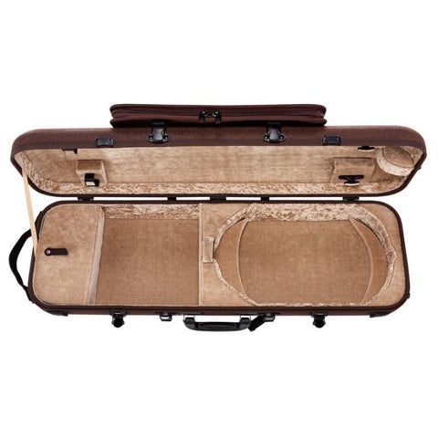 Gewa Bio-S Brown Oblong Violin Case with Pocket - Interior