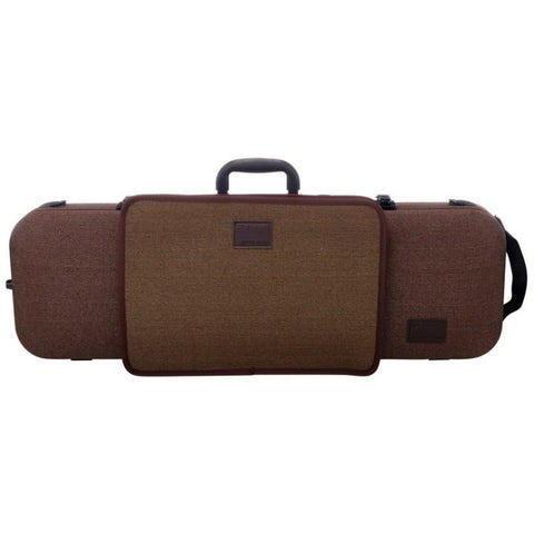 Image of Gewa Bio-S Brown Oblong Violin Case with Pocket - Front