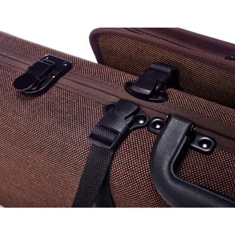 Gewa Bio-S Brown Oblong Violin Case with Pocket - Latch