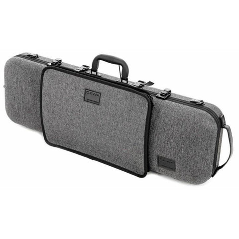 Image of Gewa Bio-S Oblong Gray Violin Case with Pocket - Side