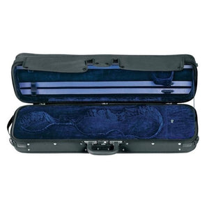 blue oblong violin case