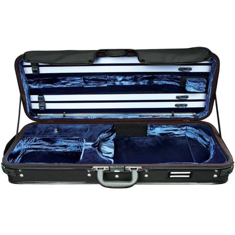 blue oblong viola case adjustable