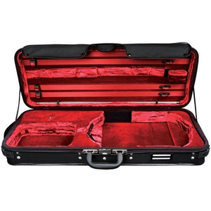 oblong adjustable black viola case