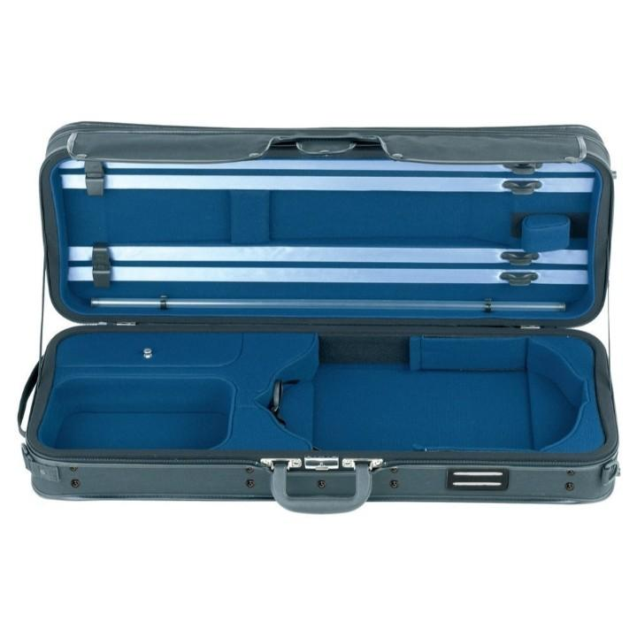 blue viola oblong adjustable case