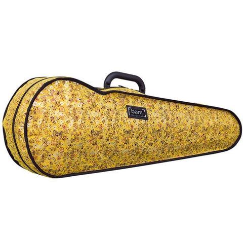 Bam Contoured Violin Case Yellow Flower Hoody - Side
