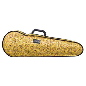 Bam Contoured Violin Case Yellow Flower Hoody - Front
