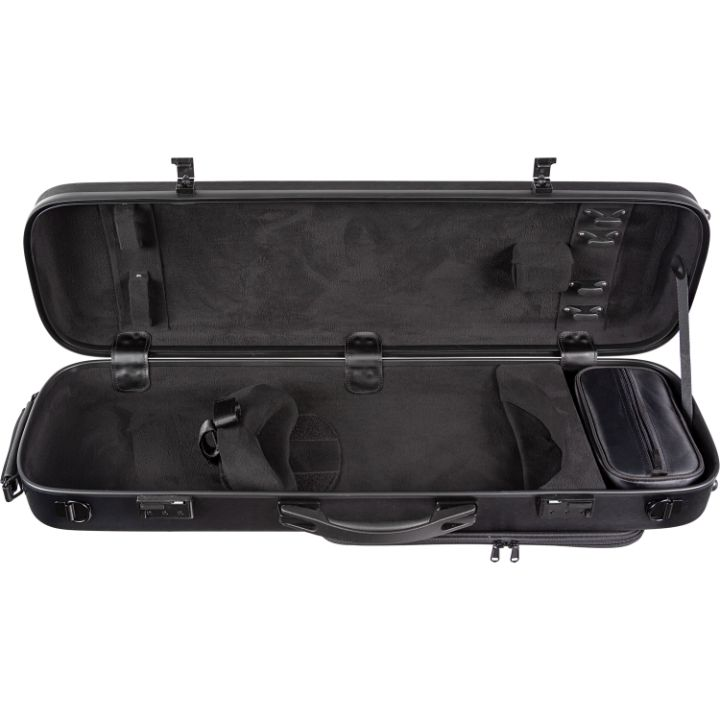 Howard Core CC450 Solid Black Scratch-Resistant Violin Case - Interior