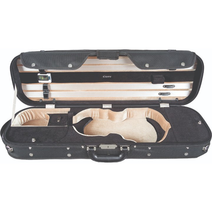 Howard Core CC535 Black Oblong Wooden Violin Case Interior