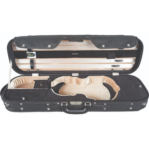 Image of Howard Core CC535 Black Oblong Wooden Violin Case Interior