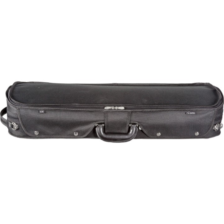 Howard Core CC535 Black Oblong Wooden Violin Case Front