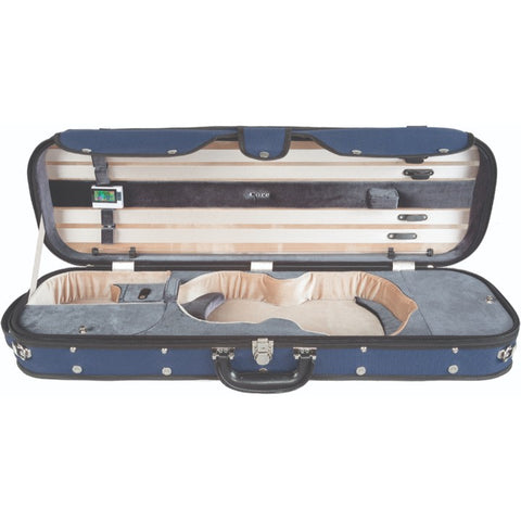 Howard Core CC535 Blue Oblong Wooden Violin Case Interior