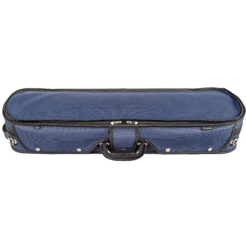 Howard Core CC535 Blue Oblong Wooden Violin Case Front