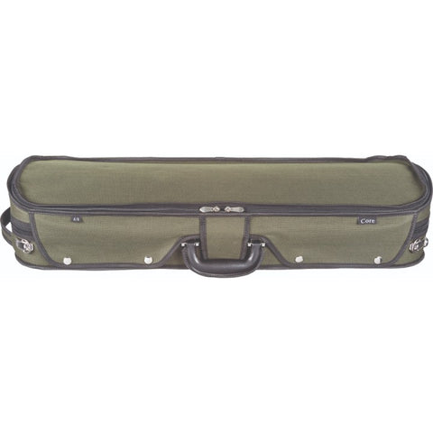 Image of Howard Core CC535 Green Oblong Wooden Violin Case Front
