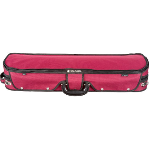 Howard Core CC535 Red Oblong Wooden Violin Case Front