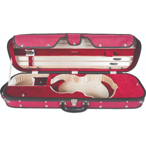 Howard Core CC535 Red Oblong Wooden Violin Case Interior