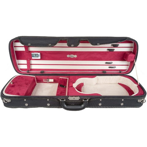Image of Howard Core Red CC550 Suspension Oblong Violin Case Interior