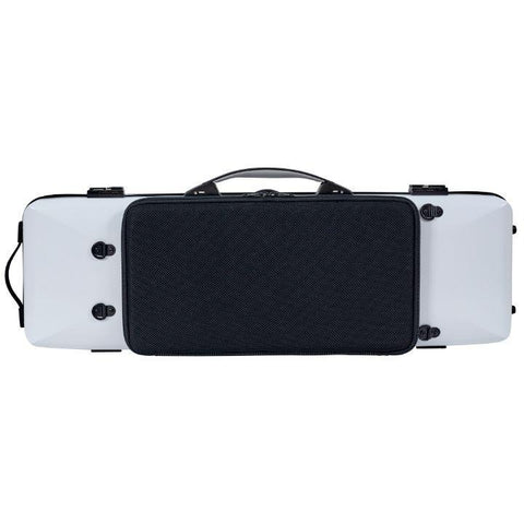 Bam Ice Supreme Oblong Violin Case White - Black Seal