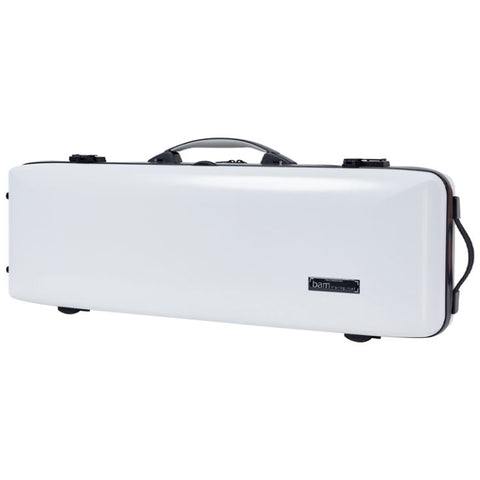 Image of Bam Ice Supreme Oblong Violin Case White - Black Seal