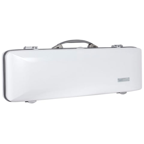 Image of Bam Ice Supreme Oblong Violin Case White - Silver Seal