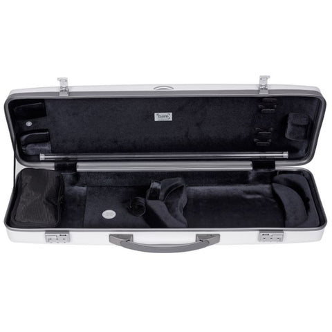 Image of Bam Ice Supreme Oblong Violin Case White - Orange Seal