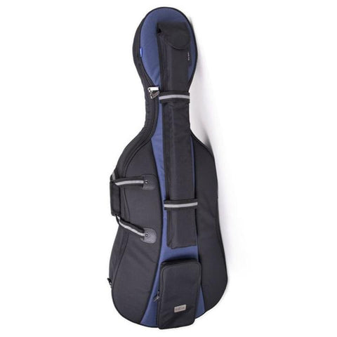 Black/ Blue Jakob Winter Soft Cello Case- Front