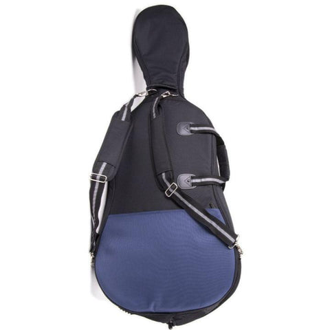 Black/ Blue Jakob Winter Soft Cello Case- Back