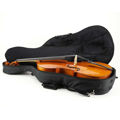 Black/ Grey Jakob Winter Soft Cello Case- Interior