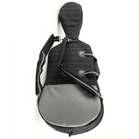 Black/ Grey Jakob Winter Soft Cello Case- Back