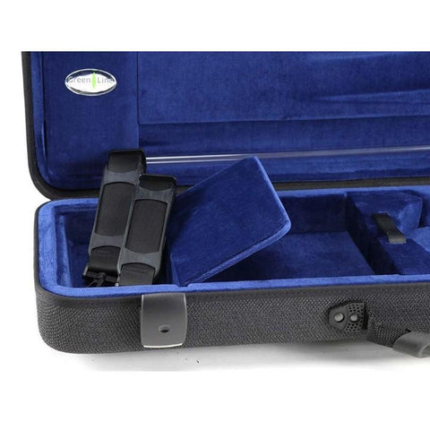 Image of Jakob Winter Greenline Classic Violin Case Grey Petrol Pocket