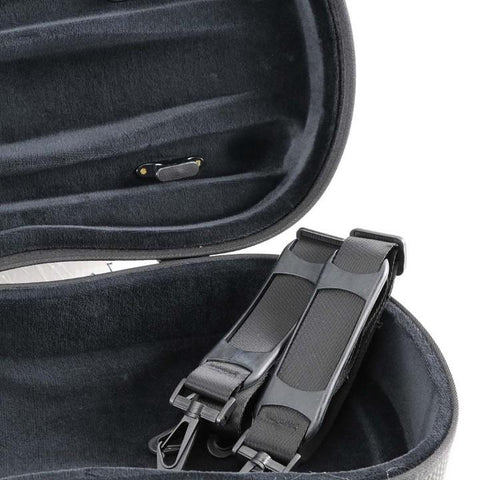 Image of Jakob Winter Shaped Greenline Violin Case Carbon Red