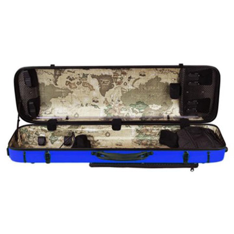 Image of Musilia P2 Carbon Fiber Violin Case Blue