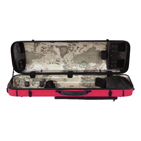 Image of red violin case