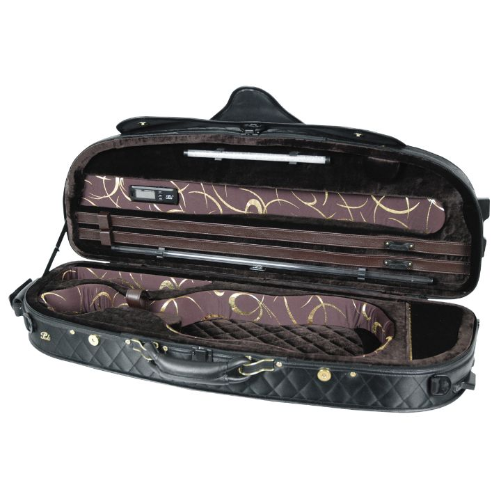 Pedi Black with Dark Brown Interior Violin Case