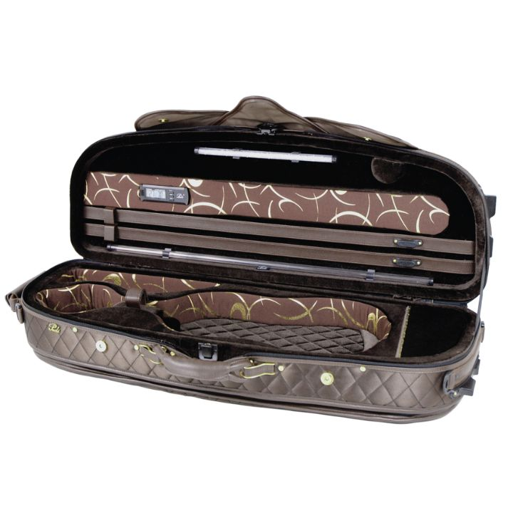 Pedi 8300 Luxury Violin Case Chocolate