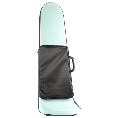 Image of Green Softpack Bass Trombone Case with Pocket