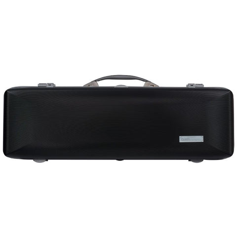 Image of Bam Supreme Hightech Oblong Violin Case Black - Silver Seal