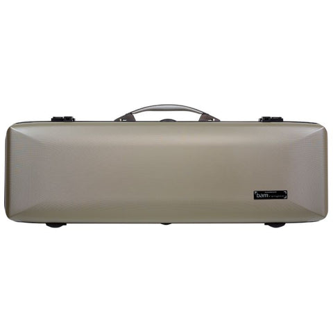 Image of Bam Supreme Hightech Oblong Violin Case Champagne - Black Seal