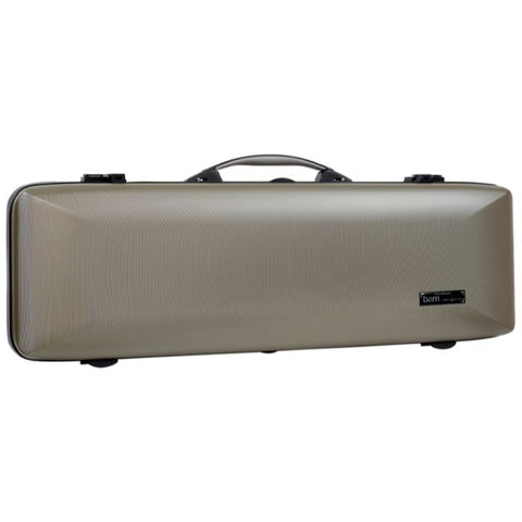 Bam Supreme Hightech Oblong Violin Case Champagne - Black Seal