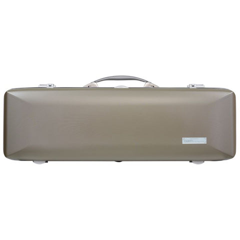 Image of Bam Supreme Hightech Oblong Violin Case Champagne -  Silver Seal