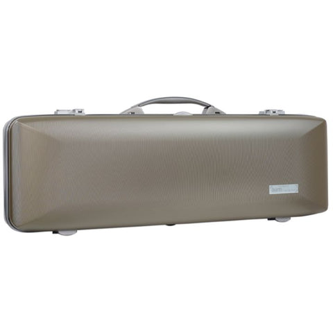 Bam Supreme Hightech Oblong Violin Case Champagne -  Silver Seal