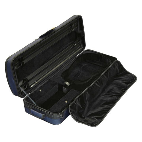 Image of Super Light Oblong Blue Viola Case - Interior