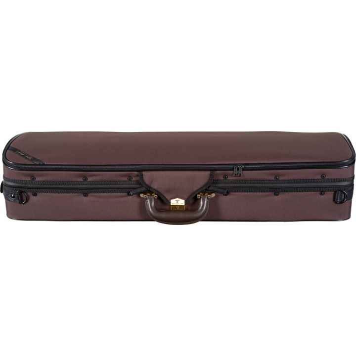 Superlight Oblong Brown Viola Case - Side