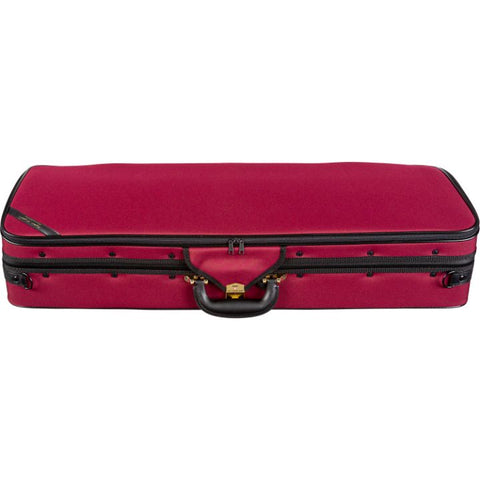 Image of Super Light Red Oblong Adjustable Viola Case - Top