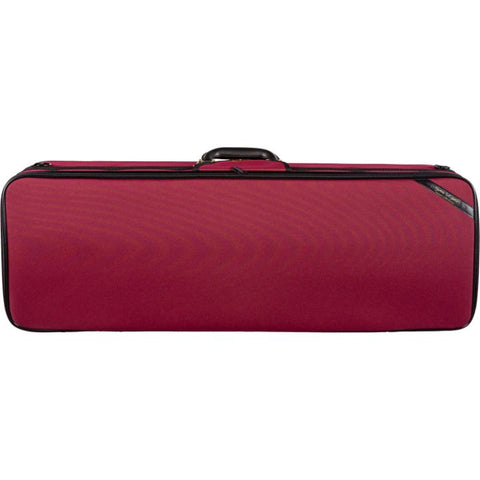 Super Light Red Oblong Adjustable Viola Case - Front