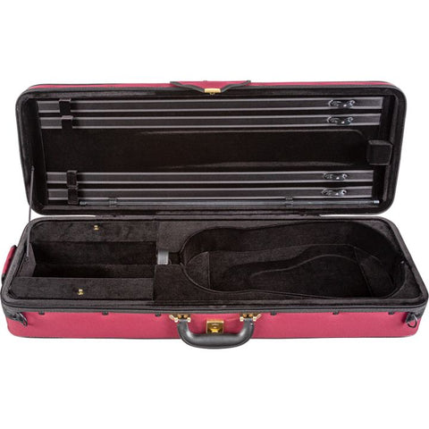 Image of Super Light Red Oblong Adjustable Viola Case - Side