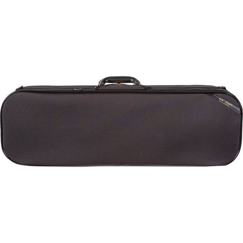 Superlight Oblong Black Violin Case - Front