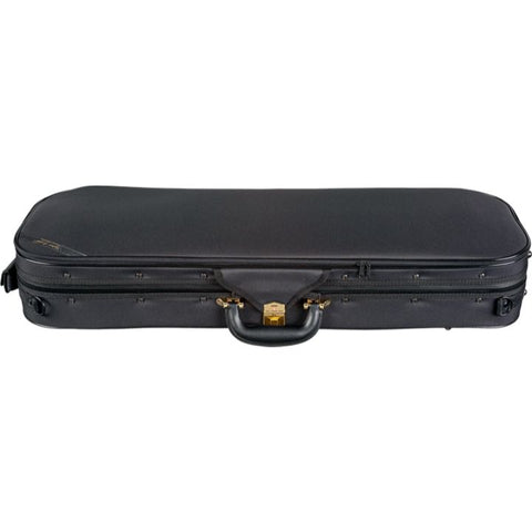 Superlight Oblong Black Violin Case - Side