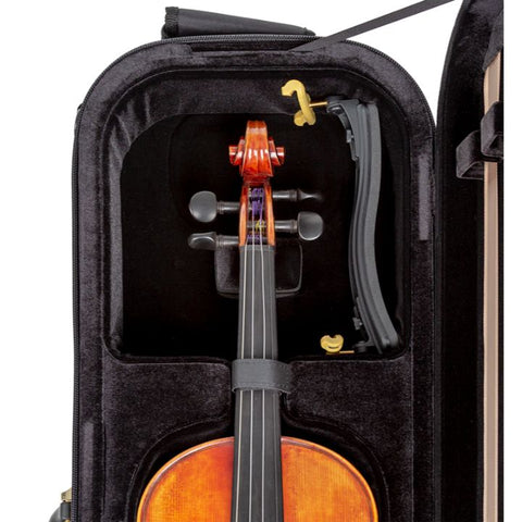 Superlight Oblong Black Violin Case - Interior