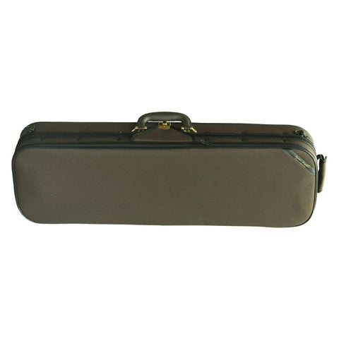 Superlight Oblong Brown Violin Case - Front