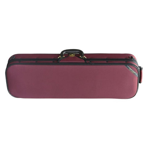 Superlight Oblong Burgandy Violin Case Front